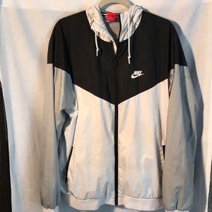 Nike grey/black full zipper jacket size XL